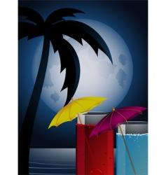moonlight cocktails vector image vector image