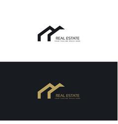 Real estate creative logo design in minimal style vector