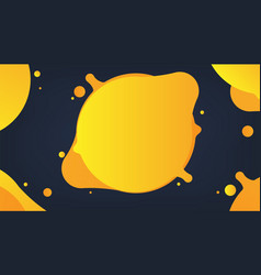 yellow liquid abstract background vector image