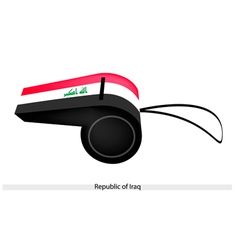 A Whistle of The Republic of Iraq vector image