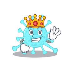 A wise king cegacovirus mascot design style vector