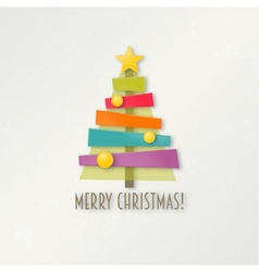 Abstract colorful Christmas tree Greeting card vector