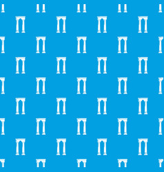 Archway egypt pattern seamless blue vector