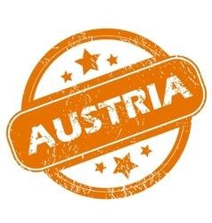 Austria grunge icon vector image