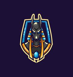 Awesome anubis esport logo vector