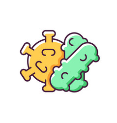 bacteria and viruses rgb color icon vector image