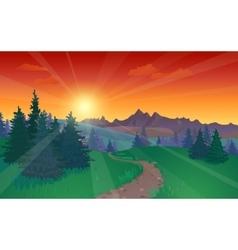 Beautiful Sunset Landscape vector image