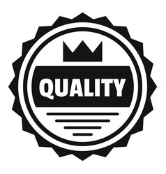 big quality logo simple style vector image