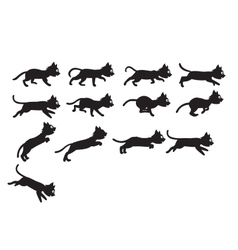 Black Cat Jumping Sprite vector