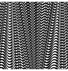 Black wave background vector