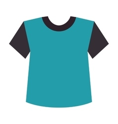 blue t shirt clothes vector image