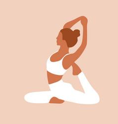 Boho yoga international yoga day continuous line vector