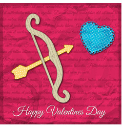 bright valentines day background vector image