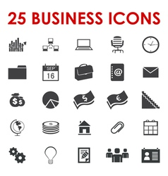 Business office icons vector image