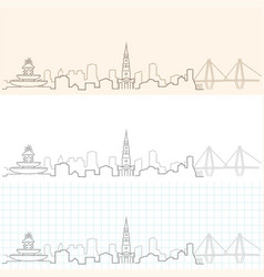 charleston hand drawn skyline vector image
