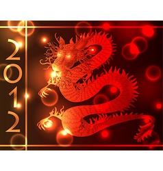 Chinese dragon light effects vector