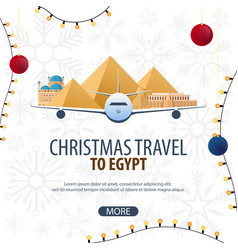 Christmas travel to egypt winter travel vector