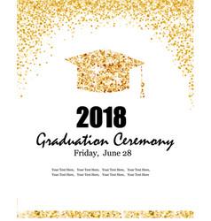 Class 2018 graduation ceremony banner vector