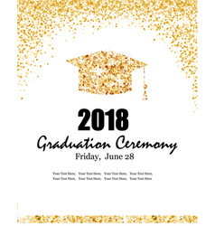 Class of 2018 graduation ceremony banner vector