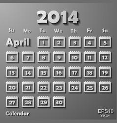 Colorful calendar vector