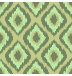 Colorful fabric ikat diamond seamless pattern vector image