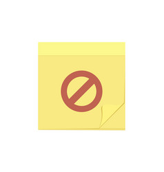 comment delete disable message note task icon vector image