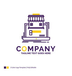 Company name logo design for business marketplace vector
