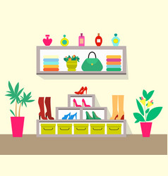 cute store with pretty interior colorful poster vector image