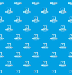 designer shop pattern seamless blue vector image