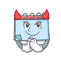 Devil calendar mascot cartoon style vector