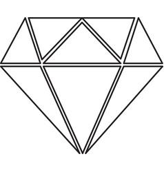 diamond line icon diamond icon eps vector image