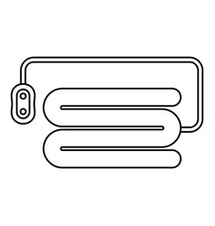 Electric blanket device icon outline style vector