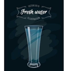 Eps 10 a glass fresh clear water vector