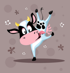 Farm animals animal cute calf cow vector