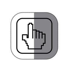 figure symbol hand icon vector image