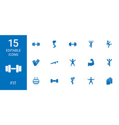 fit icons vector image