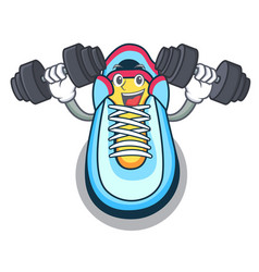 fitness classic sneaker character style vector image