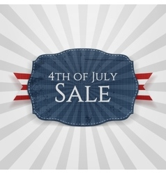 Fourth july sale holiday badge vector