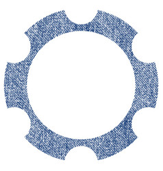 gear wheel fabric textured icon vector image