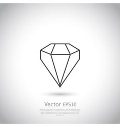 Gem icon vector