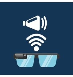 Glasses technology speaker application media vector