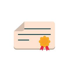 graduation certificate success education school vector image