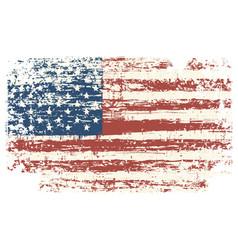 Grunge usa flag vintage american flag vector