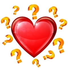 Heart and Question Signs vector