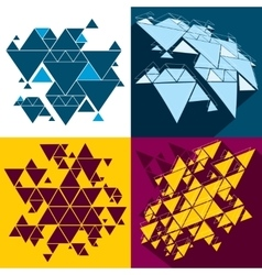 Hipster triangle abstract backgrounds set vector