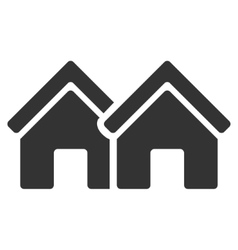 Houses Flat Icon vector image
