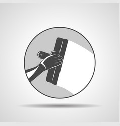 icon of trowel with hand plastering vector image