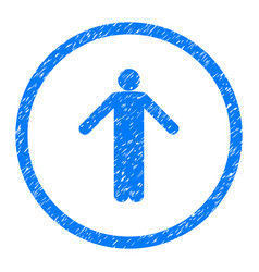 ignorance person pose rounded grainy icon vector image