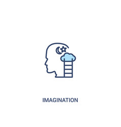 Imagination concept 2 colored icon simple line vector