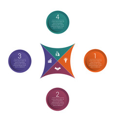Infographic colorful template 4 positions vector